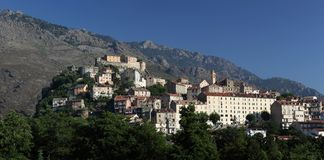 Panoramic view of Corte Stock Images