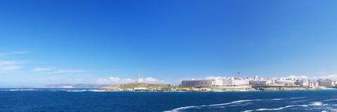 Panoramic view of Coruna coastline Royalty Free Stock Photo