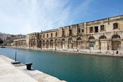 Panoramic view of Cospicua or Bormla also known by its titles Citta Cospicua. Stock Images