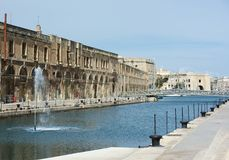 Panoramic view of Cospicua or Bormla also known by its titles Citta Cospicua Stock Image