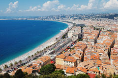Panoramic view of Cote d'Azur near the town of Nice,  France Royalty Free Stock Image