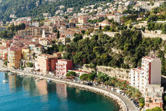 Panoramic view of Cote d'Azur Stock Photos