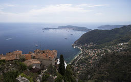 Panoramic view Cote D'azur Stock Images