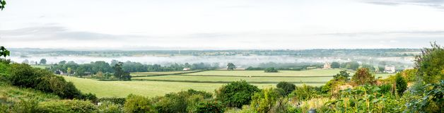 Panoramic view of the Cotswold village of Kingswood, United Kingdom. Panoramic view of the Cotswold village of Kingswood, Gloucestershire, United Kingdom royalty free stock photos