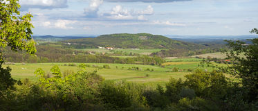 Panoramic view of country landscape Stock Photos