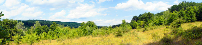 Panoramic view of countryside Royalty Free Stock Image