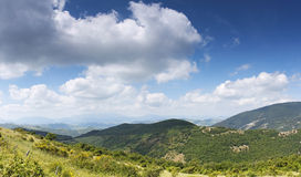 Panoramic view of the countryside.. Royalty Free Stock Image