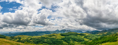 Panoramic view of countryside in Transylvania Stock Image
