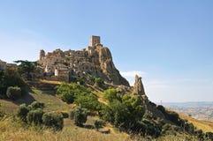 Panoramic view of Craco. Basilicata. Italy. Royalty Free Stock Photography
