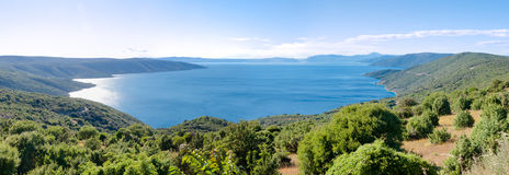 Panoramic view of Cres bay Royalty Free Stock Photos