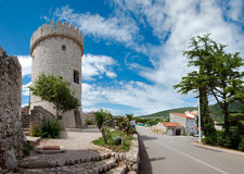 Panoramic view of Cres tower in Croatia Royalty Free Stock Photos