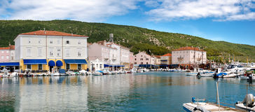 Panoramic view of Cres Town and port Stock Image