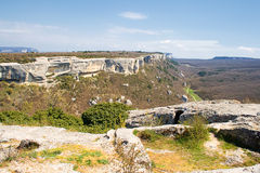 Panoramic view of Crimea mountain Royalty Free Stock Images
