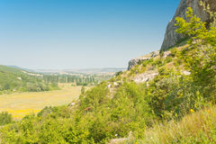 Panoramic view on the Crimea valley Stock Image