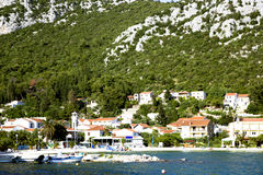 Panoramic view croatian town Klek Stock Images