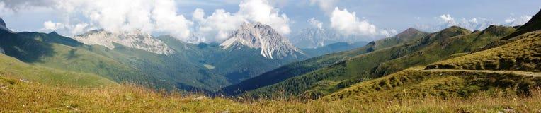 Panoramic view of Crode Dei Longerin Royalty Free Stock Photos