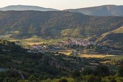 Panoramic view of Cucugnan, France Royalty Free Stock Image