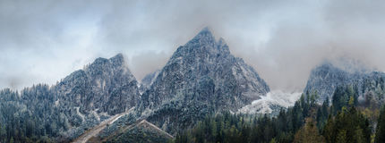 Panoramic view on Dachstein Mountains Royalty Free Stock Images