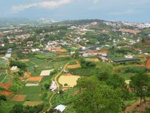Panoramic view on Dalat city. Vietnam Stock Image