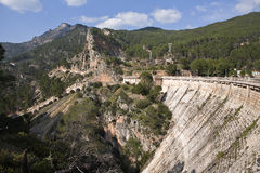 Panoramic view of dam of Tranco, in the province of Jaen Royalty Free Stock Images