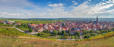Panoramic view of  Dambach la Ville, Alsace, France Stock Image