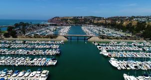 Dana Point Harbor panorama stock video footage