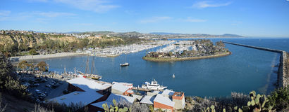 Panoramic view of Dana Point Harbor, Southern California Royalty Free Stock Image