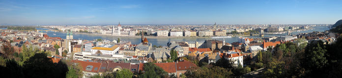 Panoramic view of the Danube, Budapest Royalty Free Stock Image