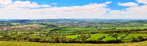 Panoramic view of Dartmoor and Tavistock  Royalty Free Stock Images