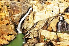 A panoramic view of Dasham Falls near Ranchi in India. The panoramic view of the Dasham Falls near Ranchi in India royalty free stock image