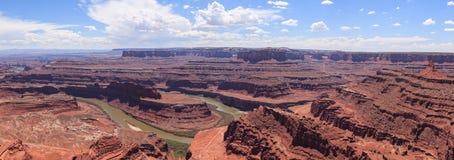 Panoramic view of Dead horse view in Utah Stock Image