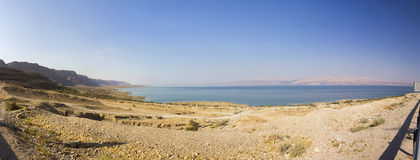 Panoramic view on the Dead sea Stock Photos