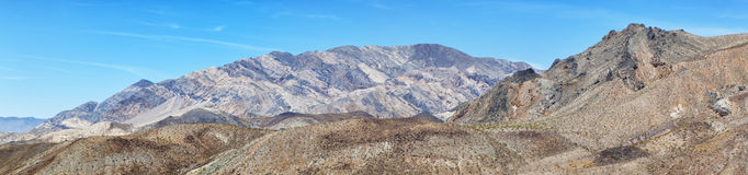 Panoramic view of death valley national park Stock Images