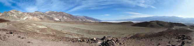 Panoramic view of the death valley national park Stock Photo