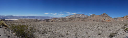 Panoramic view: Death Valley and Panamint Springs Stock Image
