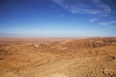 Panoramic view of desert Stock Photography
