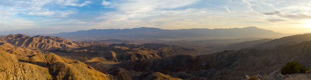 Panoramic View of Desert Landscape Royalty Free Stock Photo