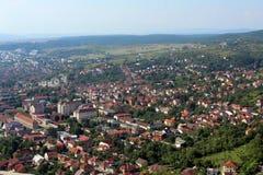 Deva city, Romania royalty free stock photo
