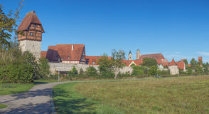 Panoramic view of Dinkelsbuhl Stock Photo