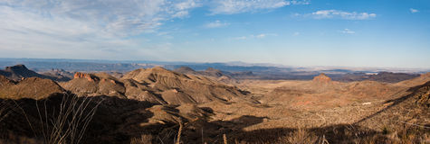 Panoramic view on the Dodson Trail. A panoramic view on the morning from a pass on the Dodson trail Royalty Free Stock Photo