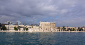 Panoramic view of Dolmabahce Palace, Istanbul, Tur Royalty Free Stock Image