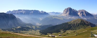 Panoramic view of the Dolomites Royalty Free Stock Image