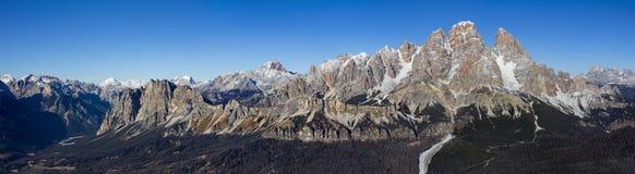 Panoramic view of Dolomites mountains Royalty Free Stock Photos