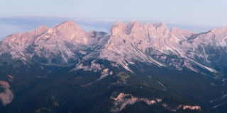 Panoramic view of Dolomites mountains ridge Stock Images