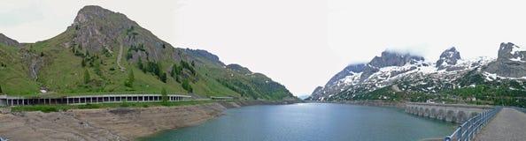 A panoramic view of Dolomiti Alps Italy Royalty Free Stock Photo