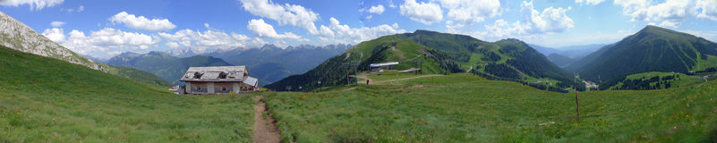 A panoramic view of Dolomiti Alps Italy Stock Photography