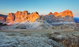 Panoramic view of Dolomiti Mountains Stock Photo