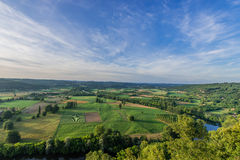 Panoramic view from dome dordogne Stock Photos
