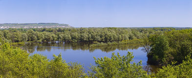 Panoramic view of the Don River valley. Photo taken in the centr Stock Photo