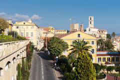 Panoramic view of downtown, Grasse is the world perfumes capital Royalty Free Stock Images